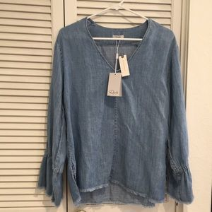 NWT Anthropologie Chambray Top